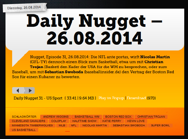 SportRadio360-Daily-Nugget-26-08-2014-Christian-Trojan
