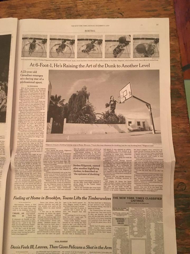 New York Times Dunk Elite Jordan Kilganon CT